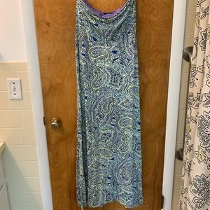 The Limited Paisley Strapless Maxi Dress